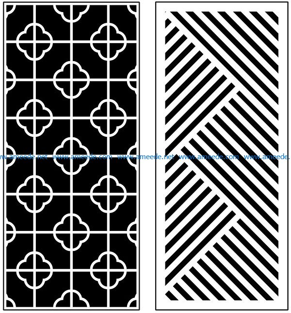 Design pattern panel screen AN00070894 file cdr and dxf free vector download for Laser cut CNC