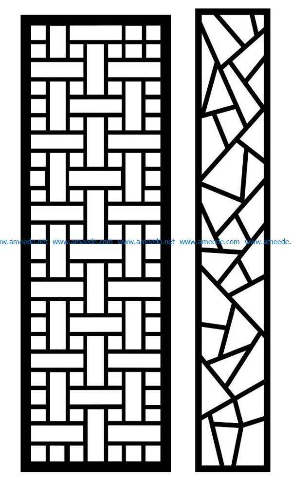Design pattern panel screen AN00070896 file cdr and dxf free vector download for Laser cut CNC
