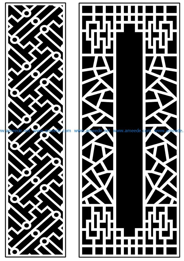 Design pattern panel screen AN00070897 file cdr and dxf free vector download for Laser cut CNC