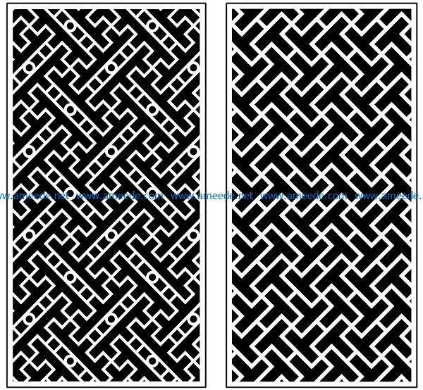 Design pattern panel screen AN00070899 file cdr and dxf free vector download for Laser cut CNC
