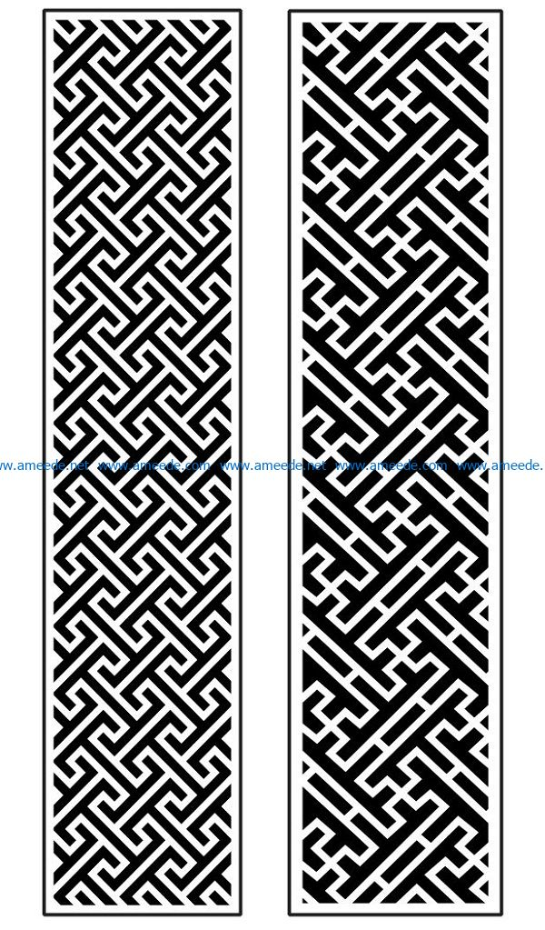 Design pattern panel screen AN00070900 file cdr and dxf free vector download for Laser cut CNC