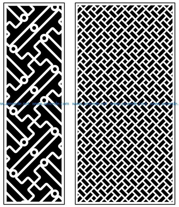 Design pattern panel screen AN00070901 file cdr and dxf free vector download for Laser cut CNC