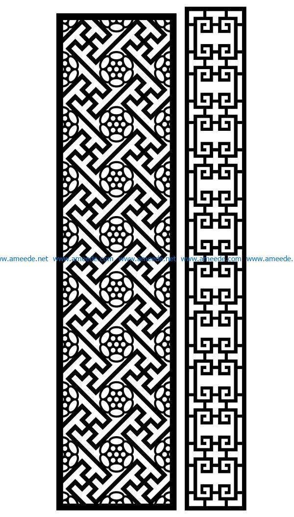 Design pattern panel screen AN00070902 file cdr and dxf free vector download for Laser cut CNC
