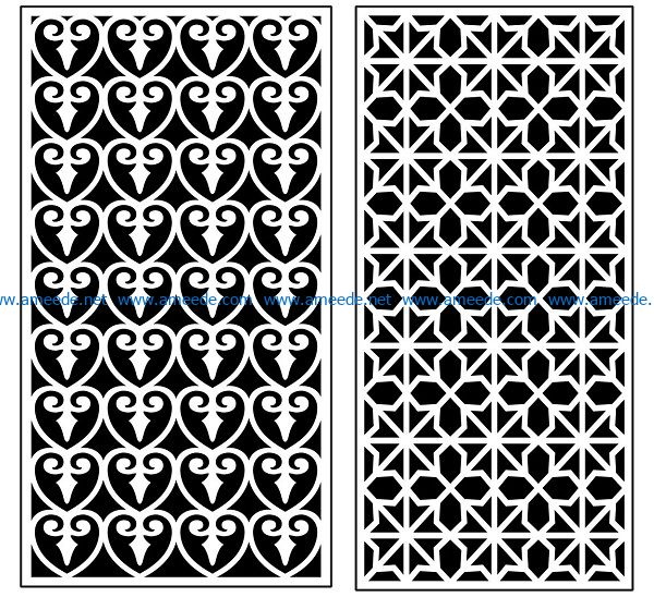 Design pattern panel screen AN00070903 file cdr and dxf free vector download for Laser cut CNC