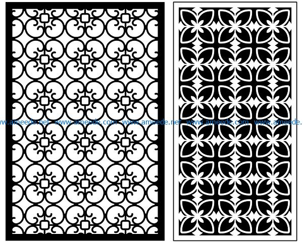 Design pattern panel screen AN00070906 file cdr and dxf free vector download for Laser cut CNC