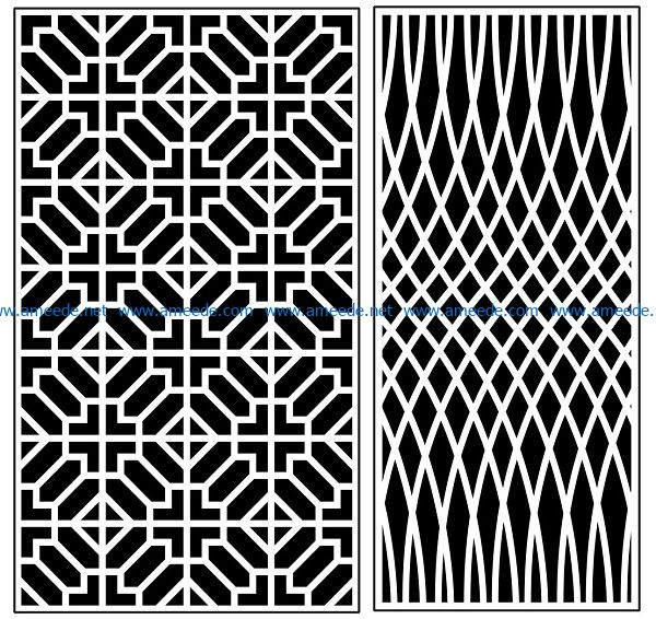 Design pattern panel screen AN00070909 file cdr and dxf free vector download for Laser cut CNC