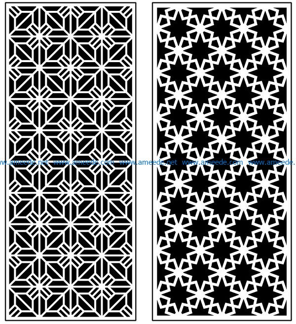 Design pattern panel screen AN00070910 file cdr and dxf free vector download for Laser cut CNC