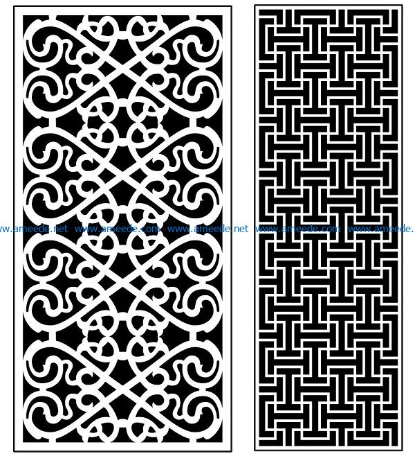 Design pattern panel screen AN00070911 file cdr and dxf free vector download for Laser cut CNC