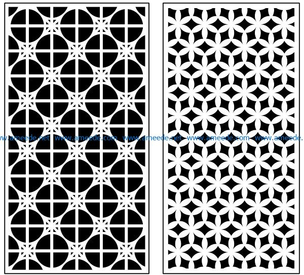 Design pattern panel screen AN00070912 file cdr and dxf free vector download for Laser cut CNC