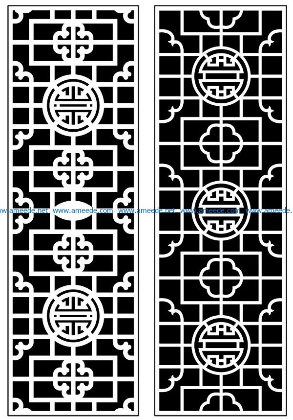 Design pattern panel screen AN00070913 file cdr and dxf free vector download for Laser cut CNC