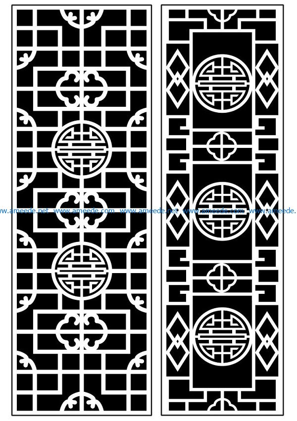 Design pattern panel screen AN00070914 file cdr and dxf free vector download for Laser cut CNC