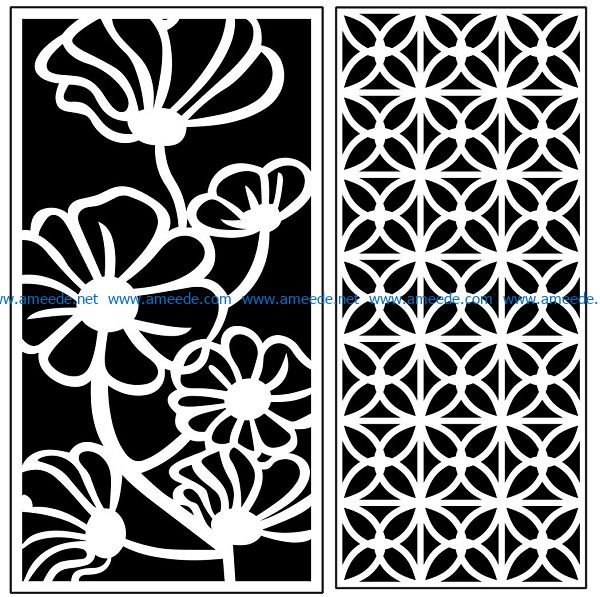 Design pattern panel screen AN00071063 file cdr and dxf free vector download for Laser cut CNC