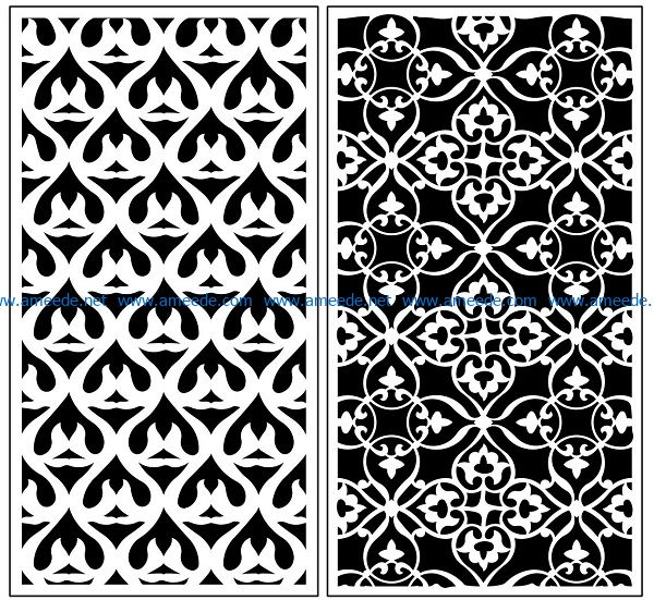 Design pattern panel screen AN00071074 file cdr and dxf free vector download for Laser cut CNC