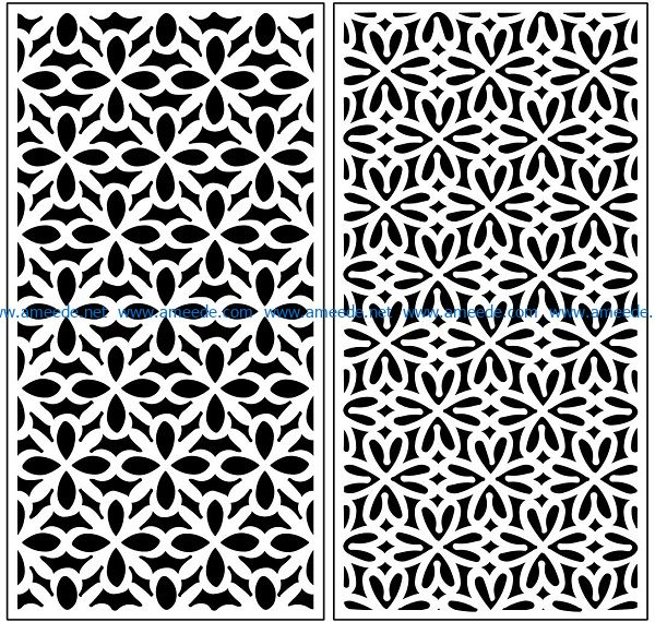 Design pattern panel screen AN00071076 file cdr and dxf free vector download for Laser cut CNC