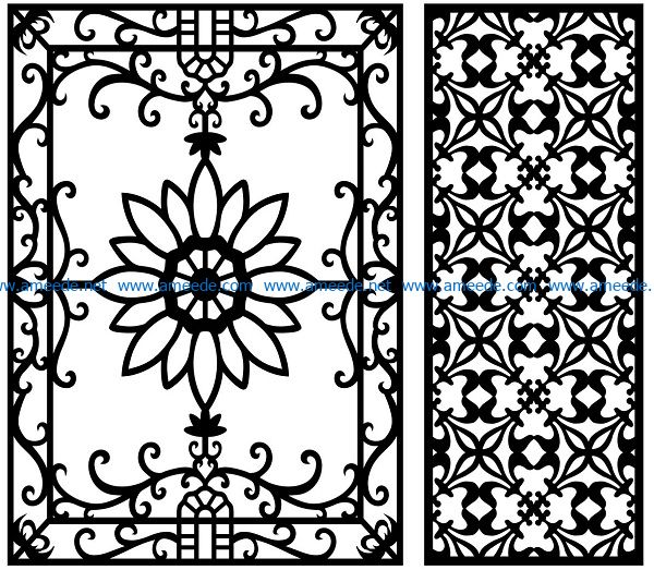 Design pattern panel screen AN00071079 file cdr and dxf free vector download for Laser cut CNC