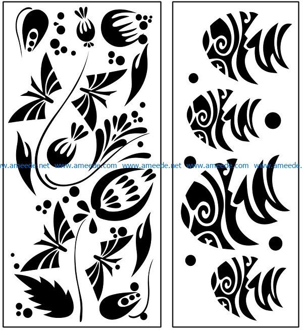 Design pattern panel screen AN00071083 file cdr and dxf free vector download for Laser cut CNC