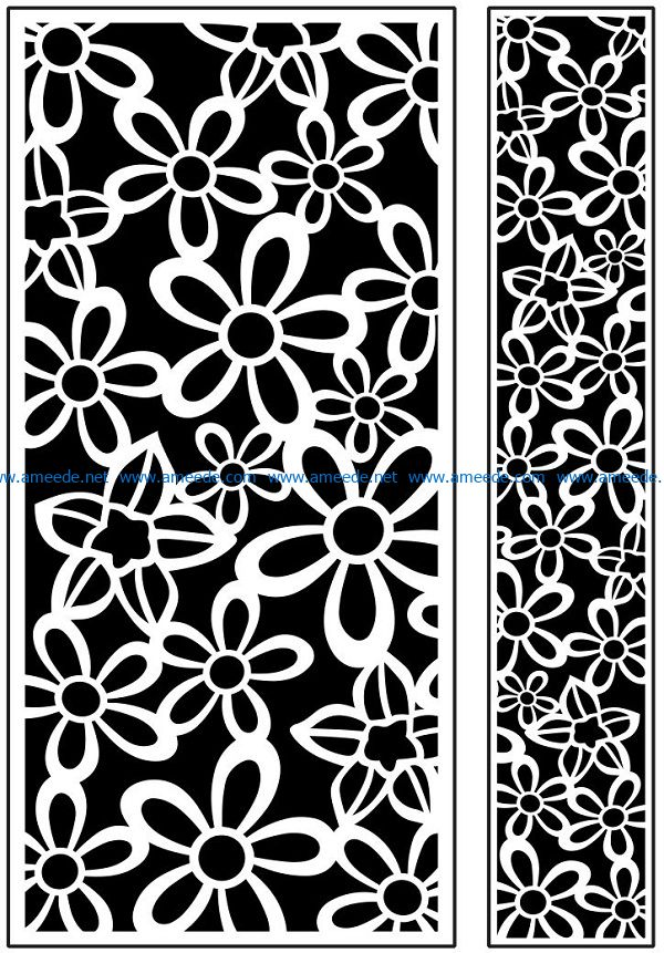 Design pattern panel screen AN00071084 file cdr and dxf free vector download for Laser cut CNC