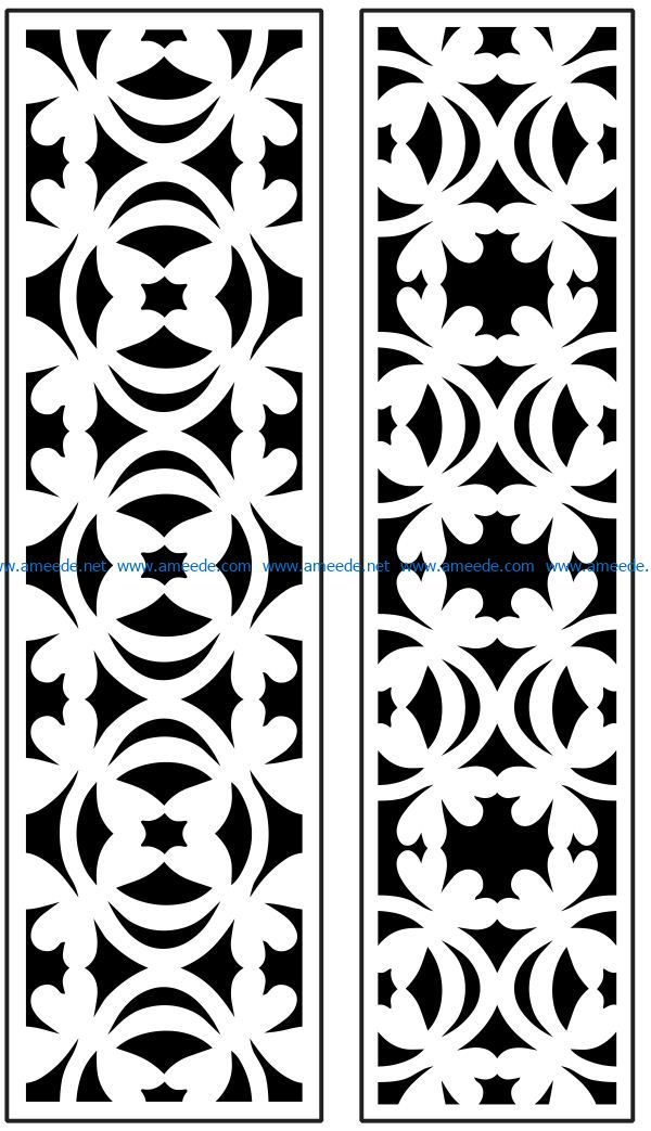 Design pattern panel screen AN00071090 file cdr and dxf free vector download for Laser cut CNC