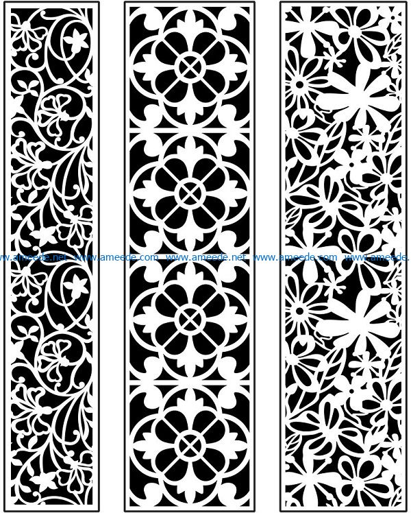 Design pattern panel screen AN00071094 file cdr and dxf free vector download for Laser cut CNC