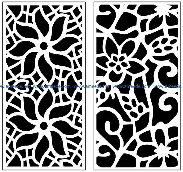 Design pattern panel screen AN00071097 file cdr and dxf free vector download for Laser cut CNC