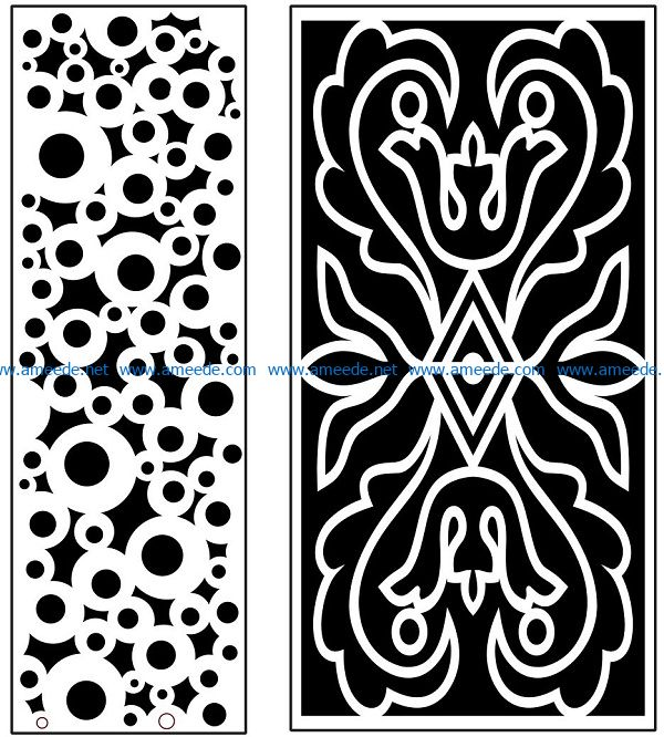 Design pattern panel screen AN00071101 file cdr and dxf free vector download for Laser cut CNC