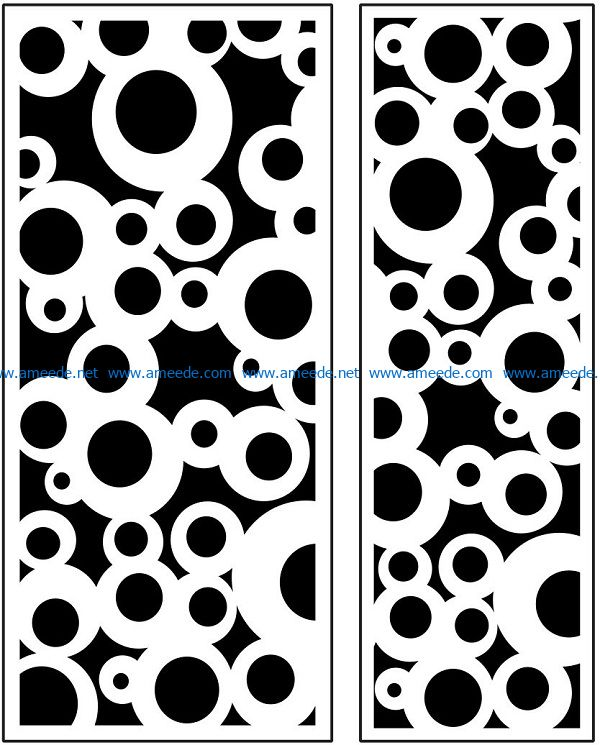 Design pattern panel screen AN00071105 file cdr and dxf free vector download for Laser cut CNC