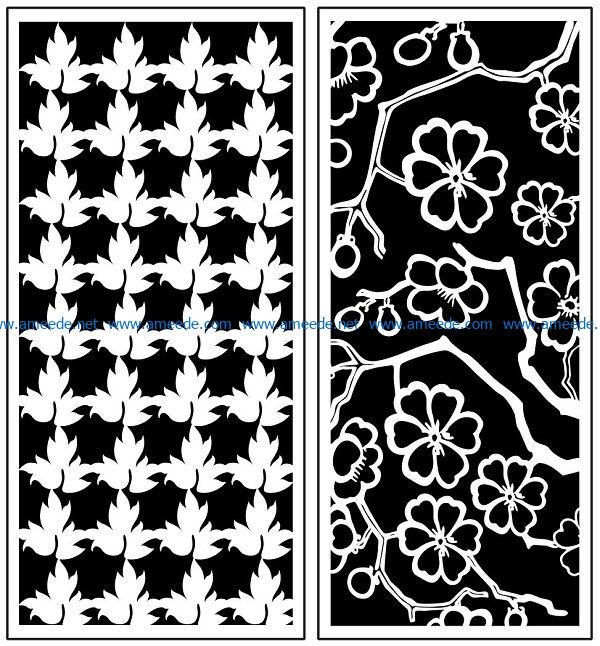 Design pattern panel screen AN00071115 file cdr and dxf free vector download for Laser cut CNC