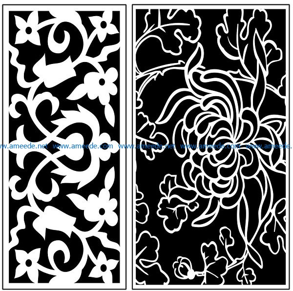 Design pattern panel screen AN00071116 file cdr and dxf free vector download for Laser cut CNC