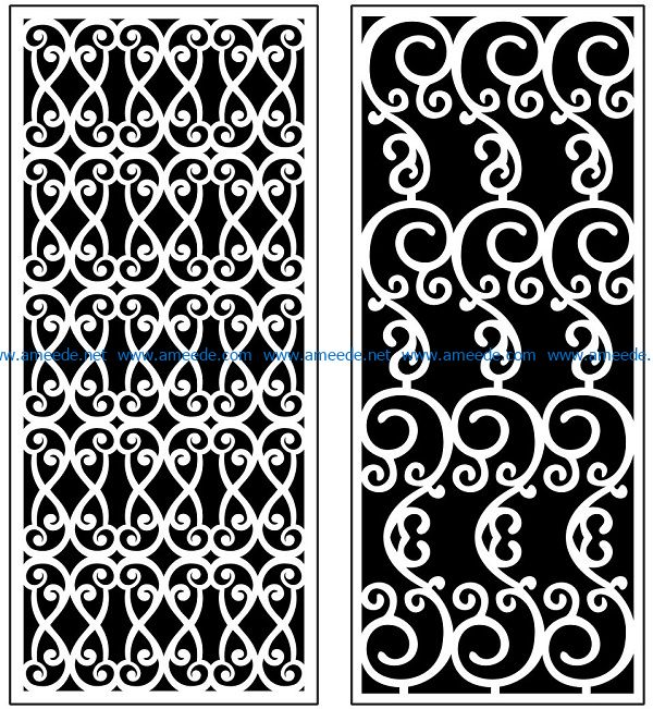 Design pattern panel screen AN00071119 file cdr and dxf free vector download for Laser cut CNC