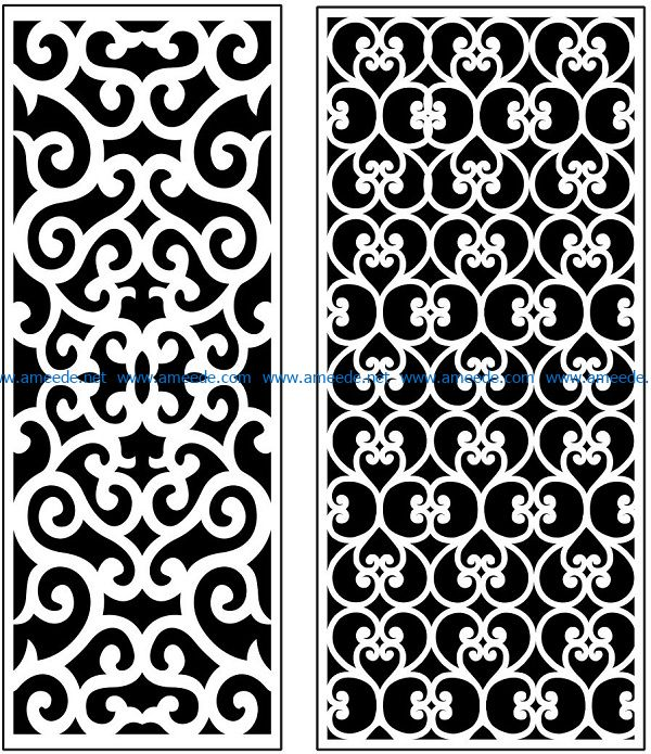 Design pattern panel screen AN00071120 file cdr and dxf free vector download for Laser cut CNC