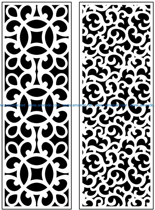 Design pattern panel screen AN00071125 file cdr and dxf free vector download for Laser cut CNC