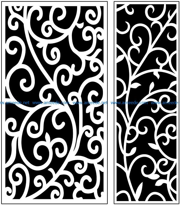 Design pattern panel screen AN00071129 file cdr and dxf free vector download for Laser cut CNC