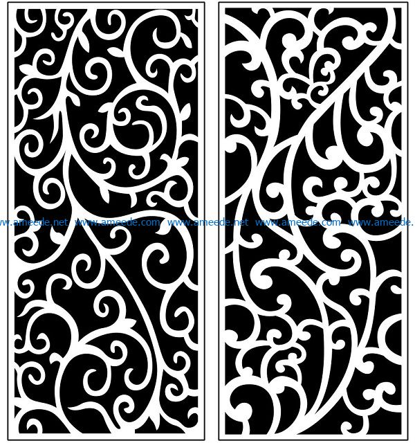 Design pattern panel screen AN00071130 file cdr and dxf free vector download for Laser cut CNC