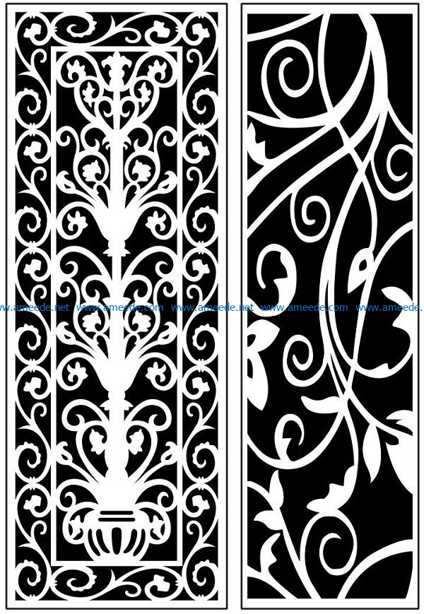 Design pattern panel screen AN00071132 file cdr and dxf free vector download for Laser cut CNC