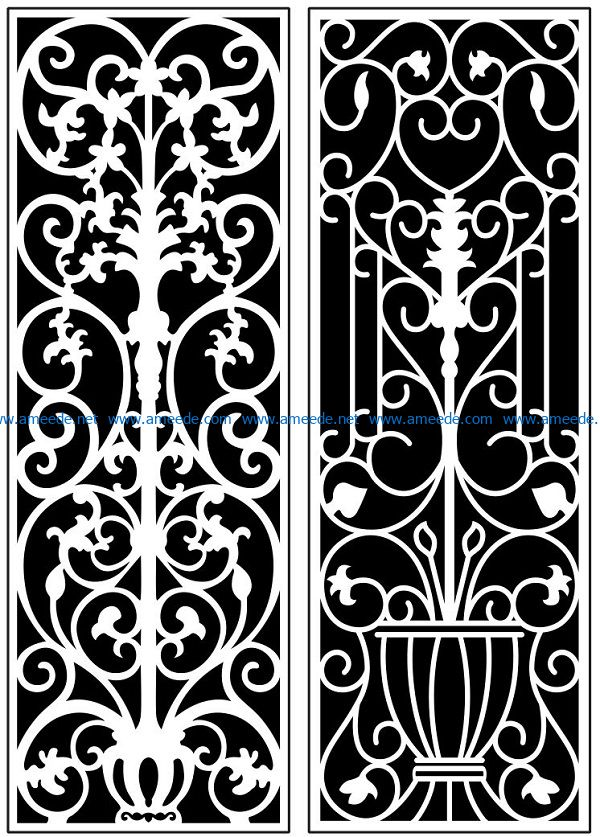 Design pattern panel screen AN00071135 file cdr and dxf free vector download for Laser cut CNC