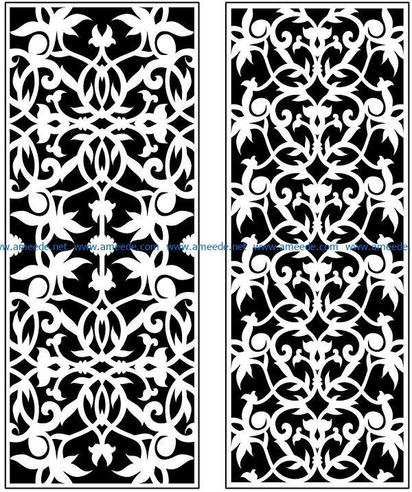 Design pattern panel screen AN00071136 file cdr and dxf free vector download for Laser cut CNC