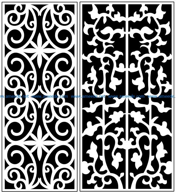 Design pattern panel screen AN00071137 file cdr and dxf free vector download for Laser cut CNC