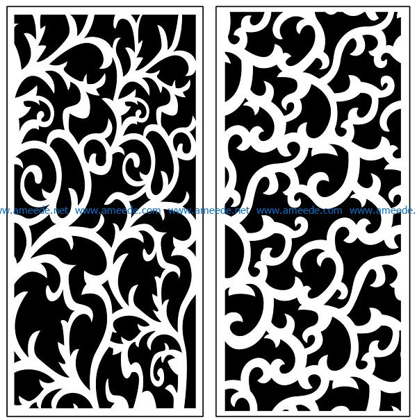Design pattern panel screen AN00071140 file cdr and dxf free vector download for Laser cut CNC