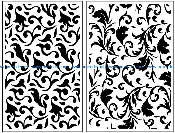 Design pattern panel screen AN00071144 file cdr and dxf free vector download for Laser cut CNC