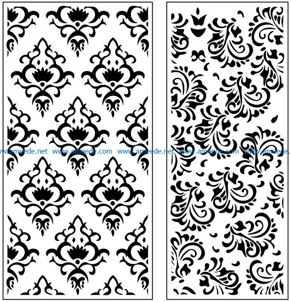 Design pattern panel screen AN00071145 file cdr and dxf free vector download for Laser cut CNC