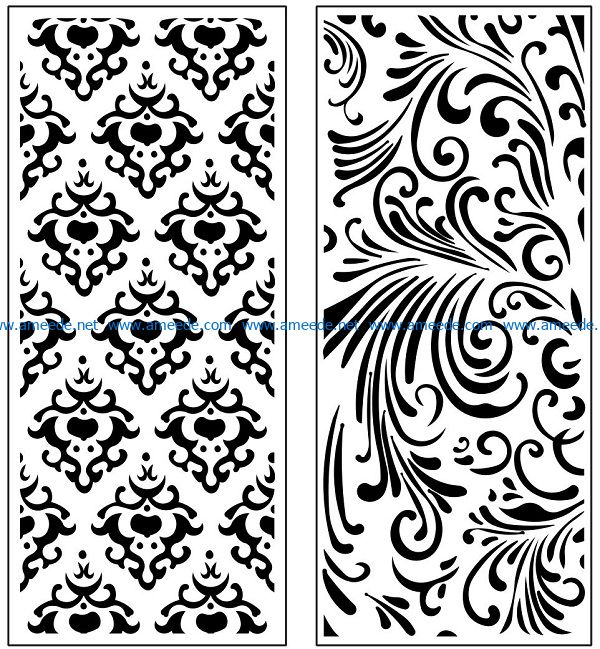 Design pattern panel screen AN00071146 file cdr and dxf free vector download for Laser cut CNC