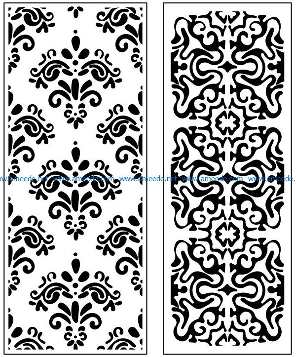 Design pattern panel screen AN00071147 file cdr and dxf free vector download for Laser cut CNC