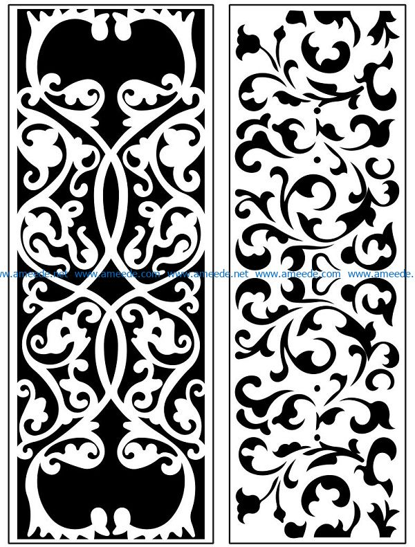 Design pattern panel screen AN00071148 file cdr and dxf free vector download for Laser cut CNC