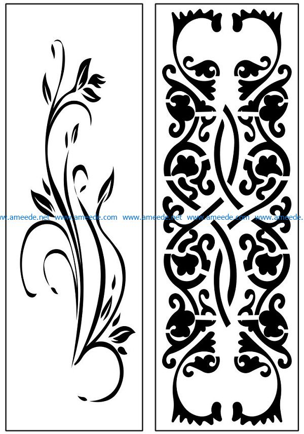 Design pattern panel screen AN00071149 file cdr and dxf free vector download for Laser cut CNC