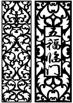 Design pattern panel screen AN00071163 file cdr and dxf free vector download for Laser cut CNC