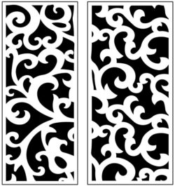 Design pattern panel screen AN00071166 file cdr and dxf free vector download for Laser cut CNC
