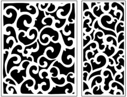 Design pattern panel screen AN00071169 file cdr and dxf free vector download for Laser cut CNC