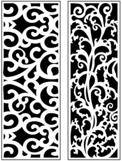 Design pattern panel screen AN00071170 file cdr and dxf free vector download for Laser cut CNC