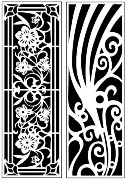 Design pattern panel screen AN00071188 file cdr and dxf free vector download for Laser cut CNC
