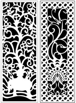 Design pattern panel screen AN00071190 file cdr and dxf free vector download for Laser cut CNC